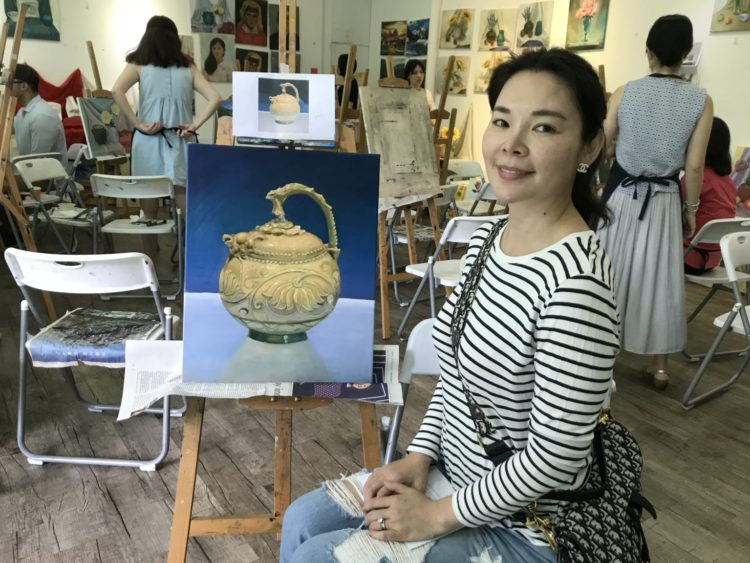 oil painting class singapore with all materials provided, visual arts centre