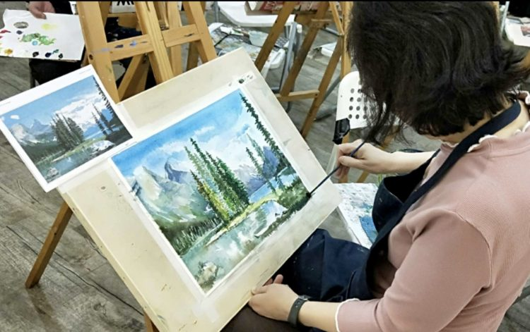 watercolour painting class in singapore
