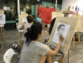where to learn portrait drawing in singapore - visual arts centre portrait drawing course