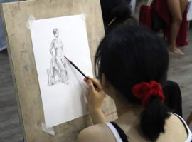 Nude life drawing workshop - Learn nude life drawing in Singapore with Visual Arts Centre