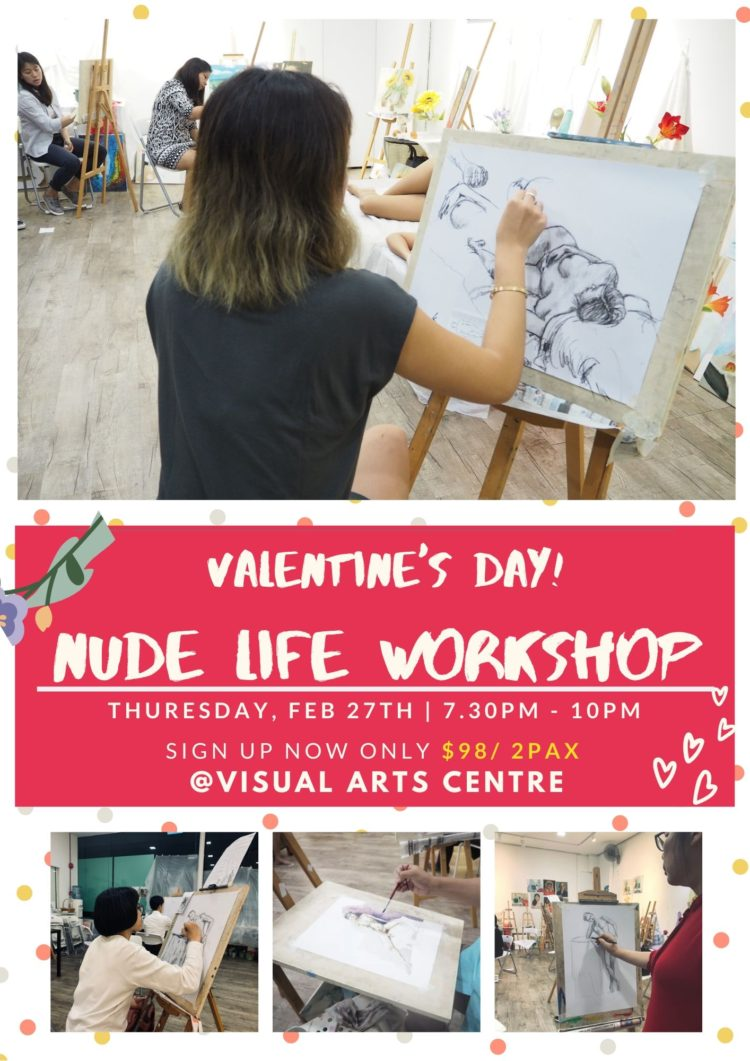 Valentine's Day Art Workshop Nude Life Drawing at Visual Arts Centre Singapore