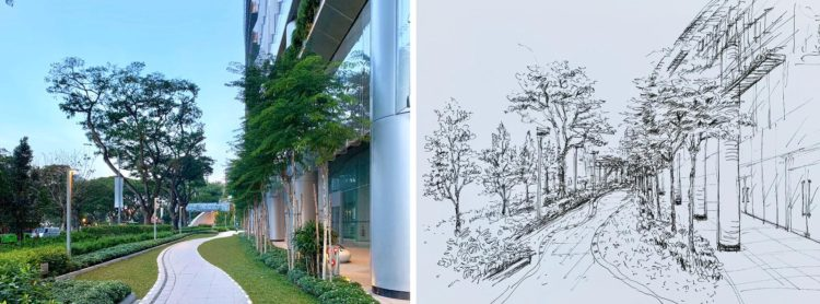 Learn Landscape sketching online, best landscape sketching course online with professional instruction and techniques, visual arts centre singapore