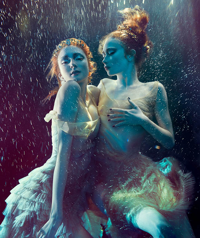 "Photograph by Zena Holloway. ""Sisters of Serenity"" [Digital Photography, Canon 1DS + Seacam Housing]"