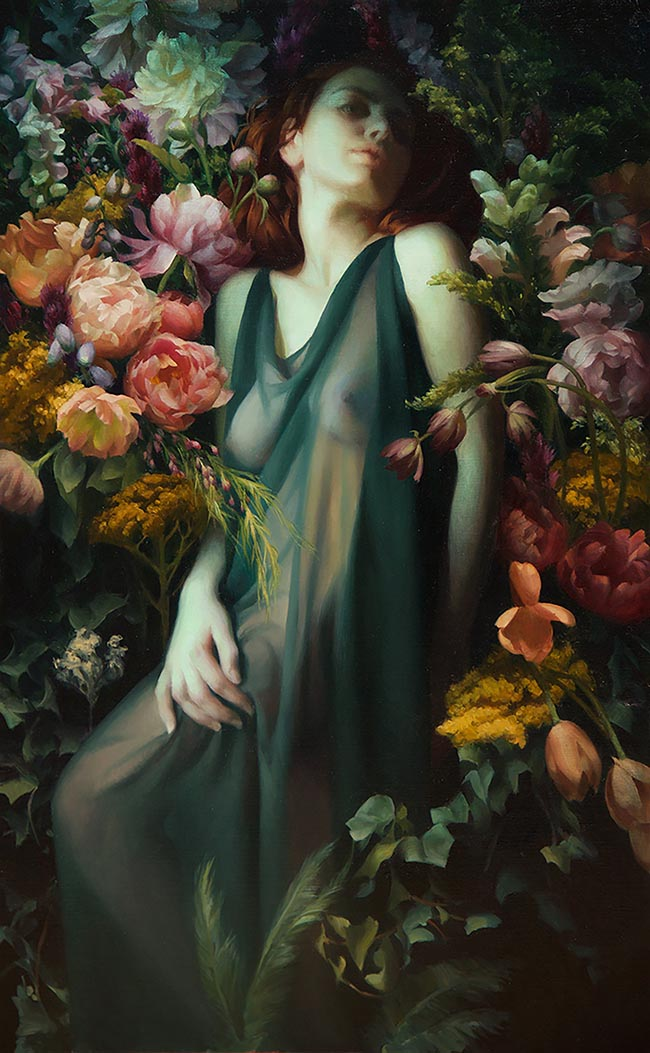 """Oil Painting by Adrienne Stein. """"Persephone"""" [Oil on Canvas, 48"""" x 30""""]"""