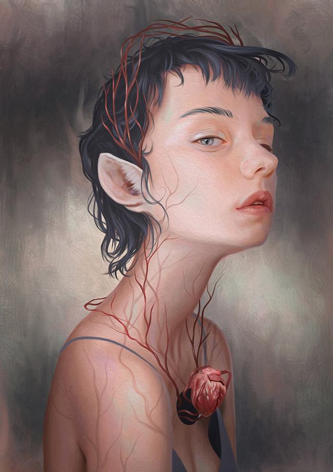 "Digital painting by Camila Sousa. ""Metamorphosis"" [Digital Painting, Wacom Intuos Draw, Adobe Photoshop]"
