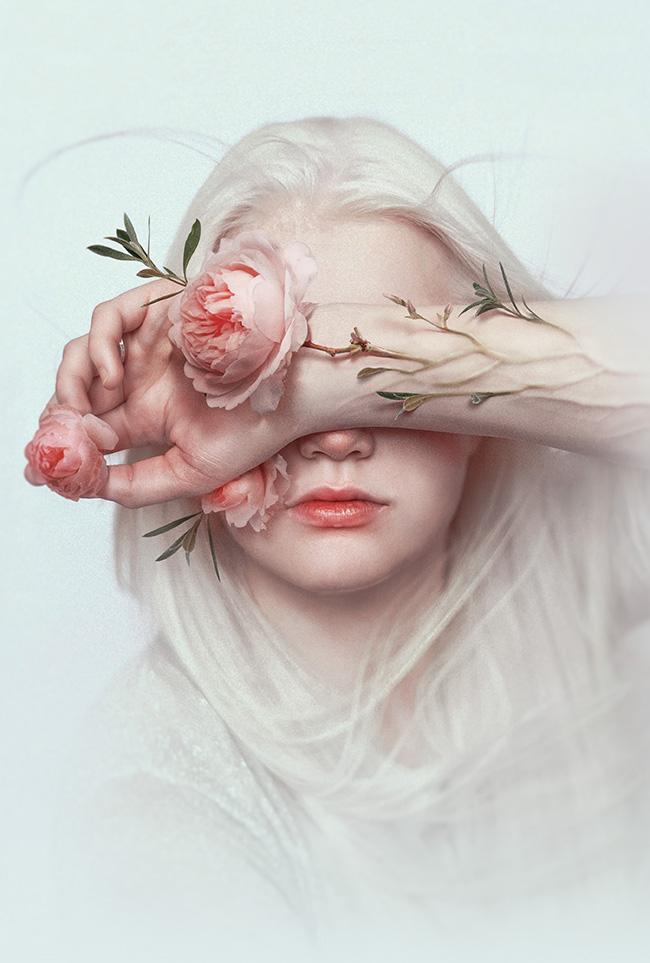 "Digital Collage by Sasha Vinogradova. ""Blind"" [Digital Collage, Adobe Photoshop]"