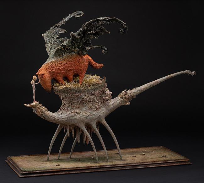 akishi ueda sculpture dragon