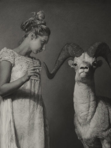 Annie Murphy-Robinson charcoal drawing winner of the 2019 Beautiful Bizarre Art Prize