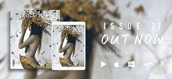 beautiful bizarre art magazine with brad kunkle's painting on the cover