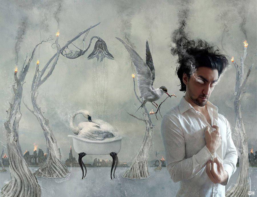 Vincent Marcone - my lovely jinn - digital painting - beautiful bizarre art prize 2019