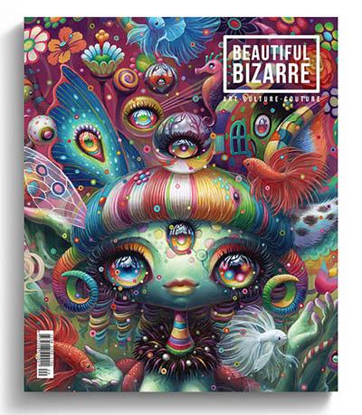 Beautiful Bizarre art magazine - issue 30 - Yoko d'Holbachie pop surrealism painting