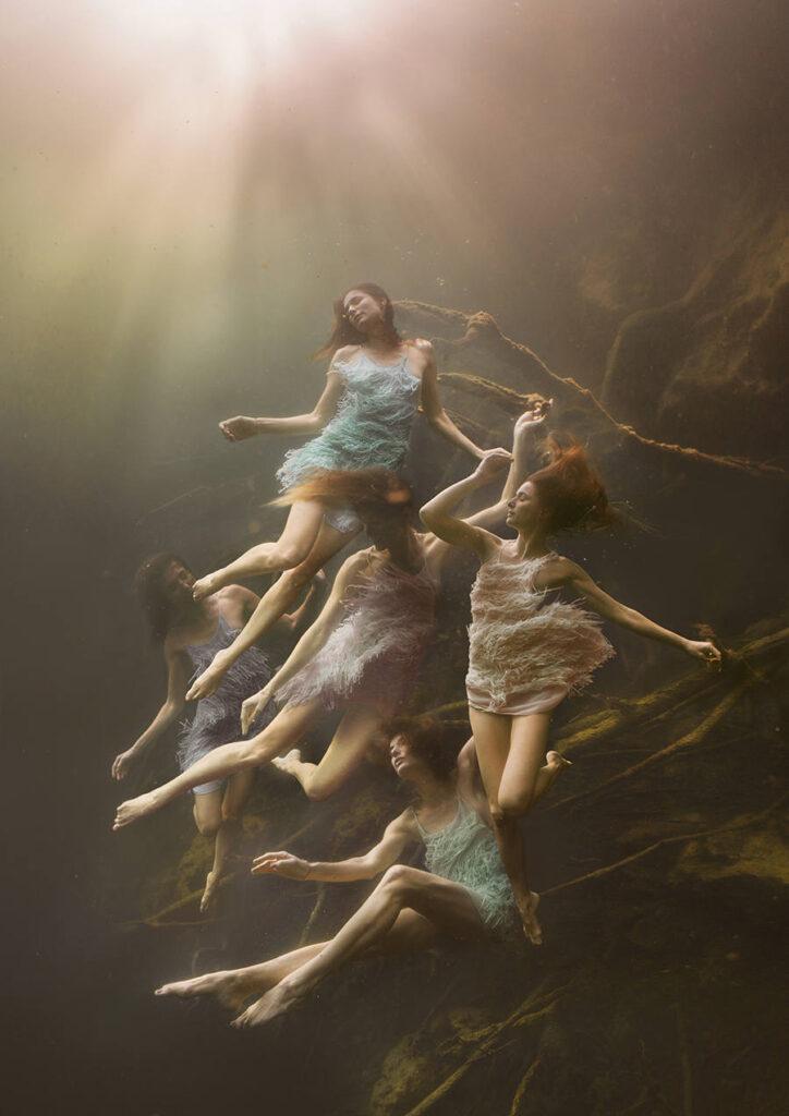 Lexi Laine underwater photography Midnight Garden