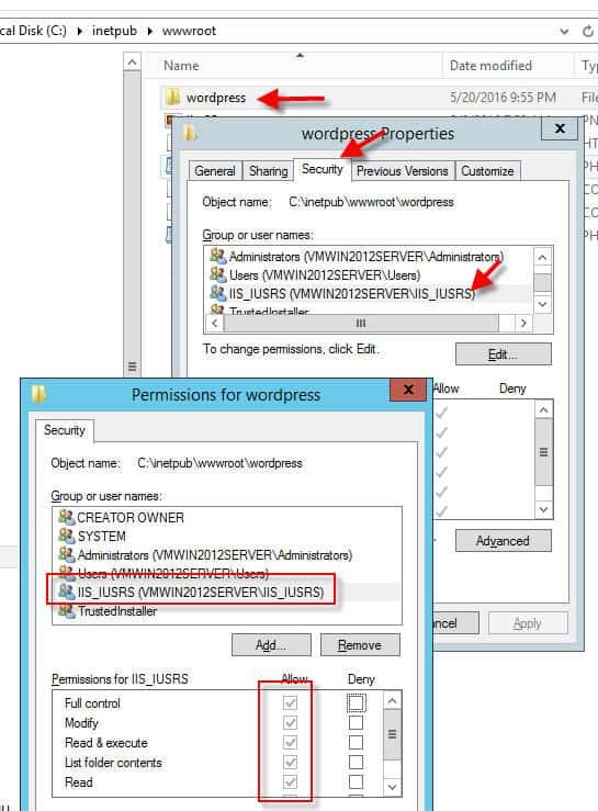 folder permissions