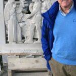 Ralph Petrillo in front of Ignatius Loyola