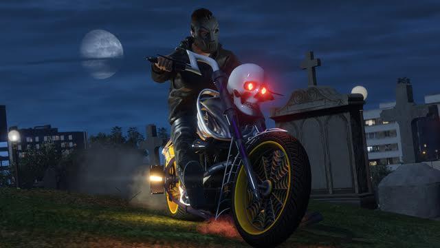 Rockstar GTA V Halloween LCC Motorcycle