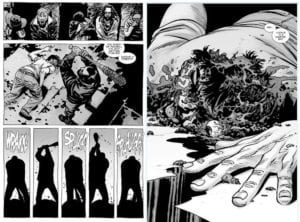 walking dead comic glenn death
