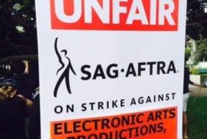 SAG-AFTRA picket sign