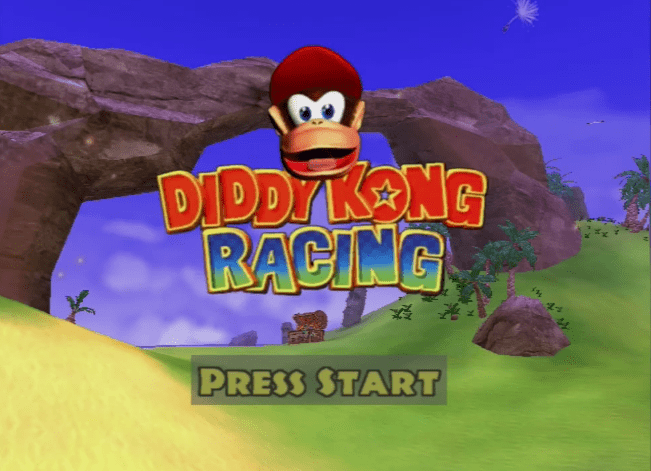 Diddy Kong Racing Adventure title screen