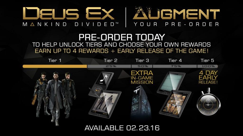 Deus Ex: Mankind Divided preorder ad