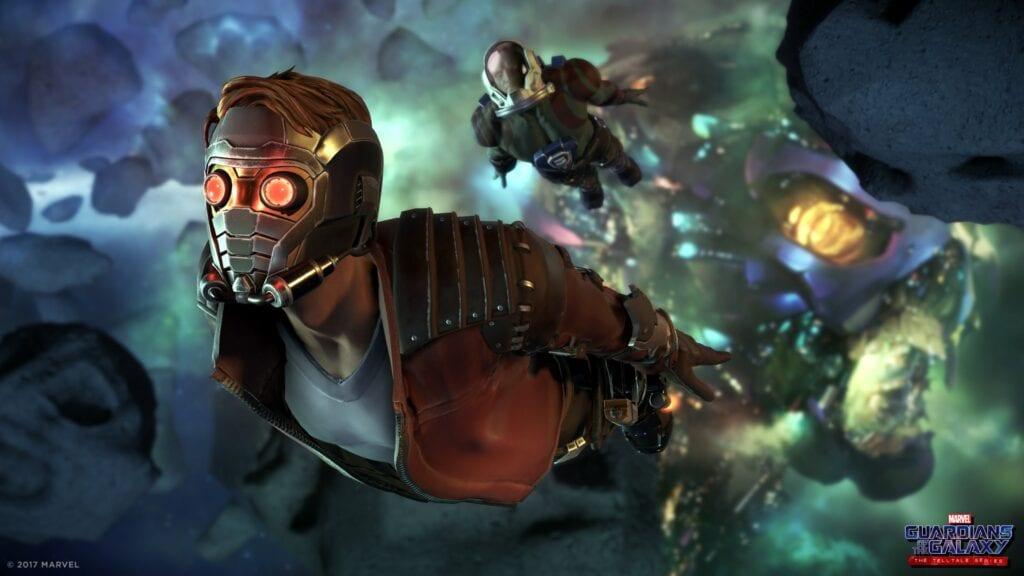 star lord drax telltale's guardians of the galaxy