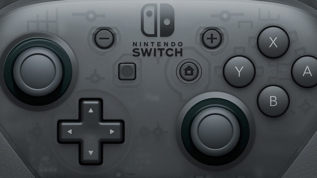 nintendo switch pro controller closeup