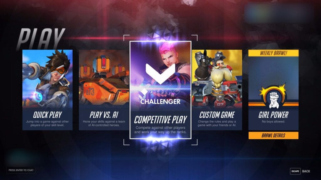 Overwatch PTR Competitive Play