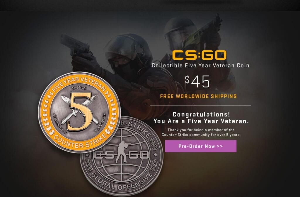 CS:GO Five Year Veteran Coin