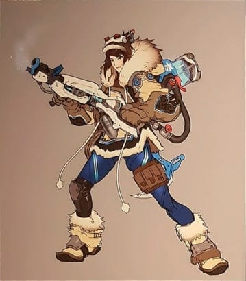 Overwatch's Mei used to be a bounty hunter named Frostbite