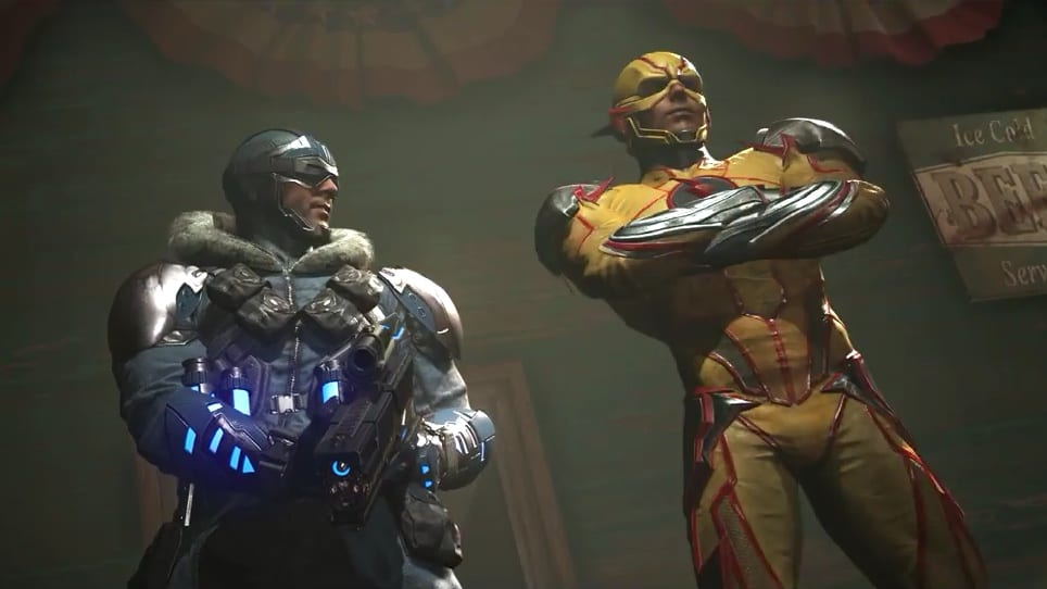 injustice 2 captain cold reverse flash shattered alliances part 4 trailer
