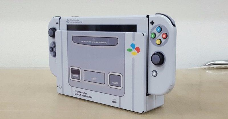Super Famicom Themed Nintendo Switch