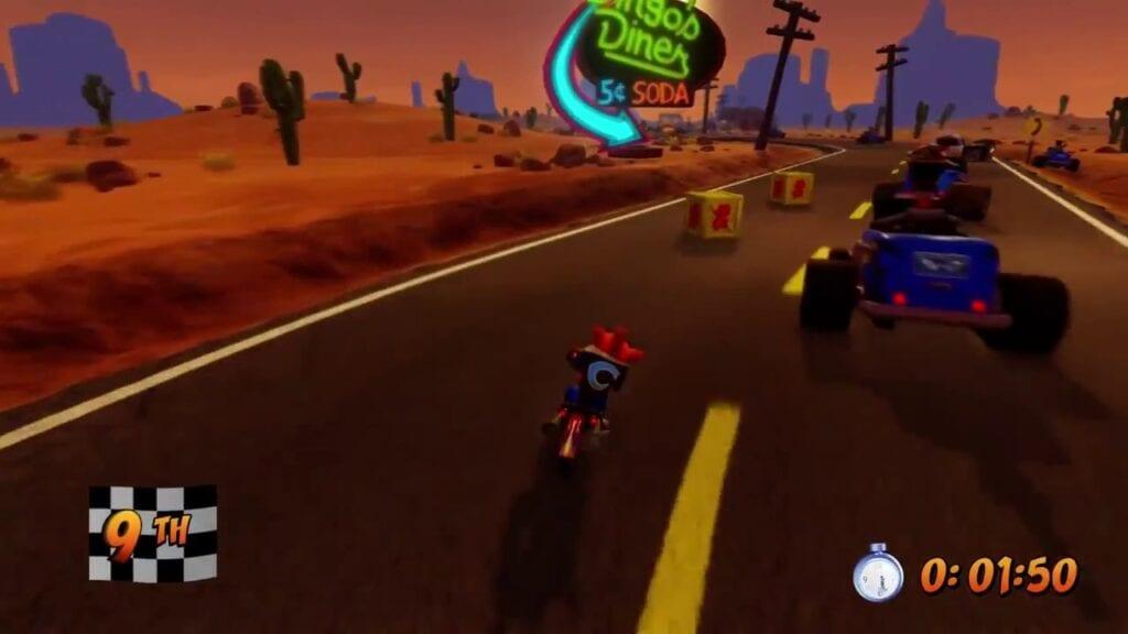Crash Bandicoot 3 Motorcycle