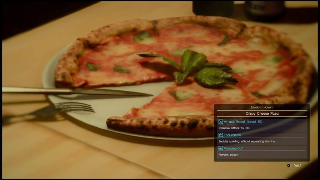 Final Fantasy-Themed Pizza