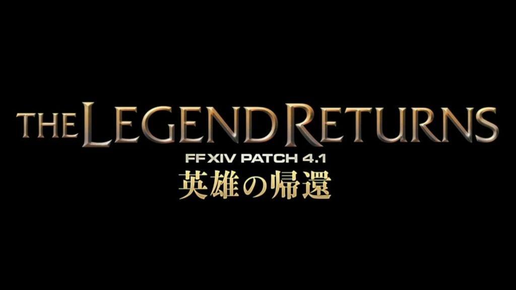 Final Fantasy XIV: The Legend Returns