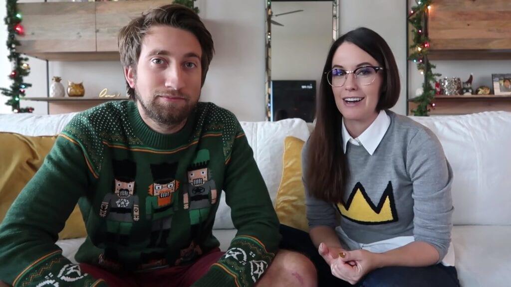 YouTubers Meg Turney and Gavin Free