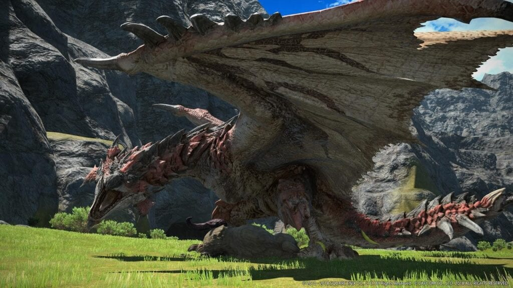 Final Fantasy XIV Gets Invaded By Monster Hunter World's Rathalos, Coming Soon (VIDEO)