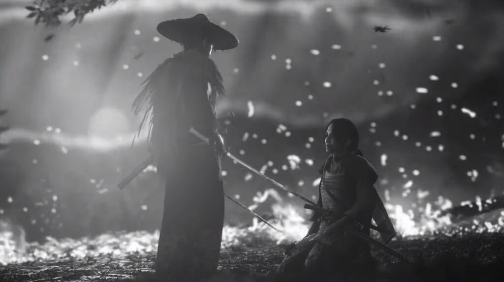 Ghost Of Tsushima In Black And White Has Fans Clamoring For An Official Filter (VIDEO)