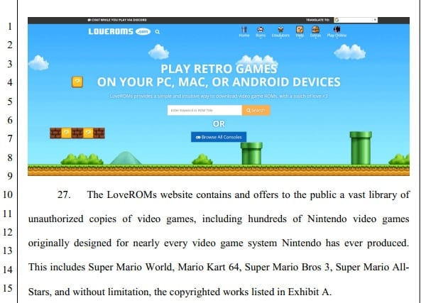 Nintendo Is Suing ROM Sites For Copyright Infringement