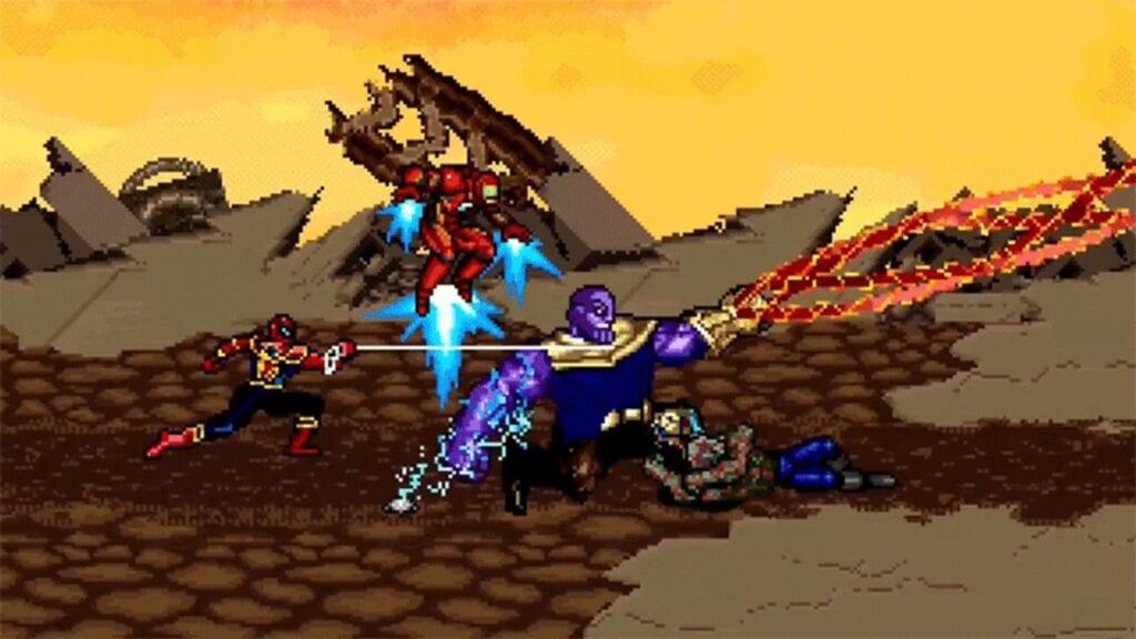 Avengers Infinity War Thanos Battle