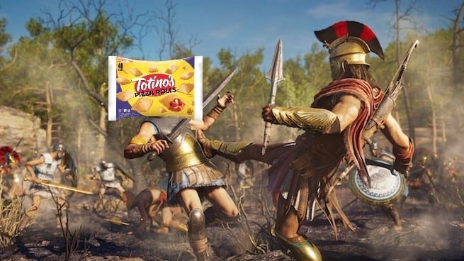 Assassin's Creed Odyssey Totino's Pizza Rolls