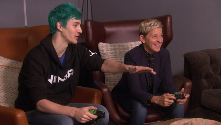Ninja Plays Fortnite With Ellen To Hilarious Effect (VIDEO)