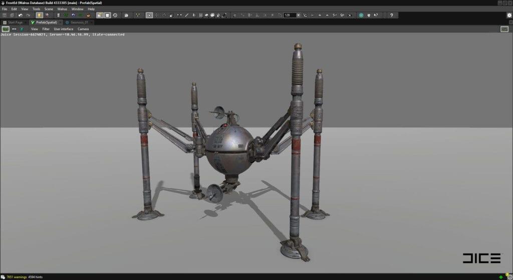 Star Wars Battlefront II Spider Droid