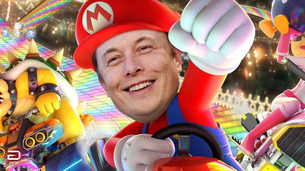 Elon Musk Wanted A Mario Kart And Tesla Partnership