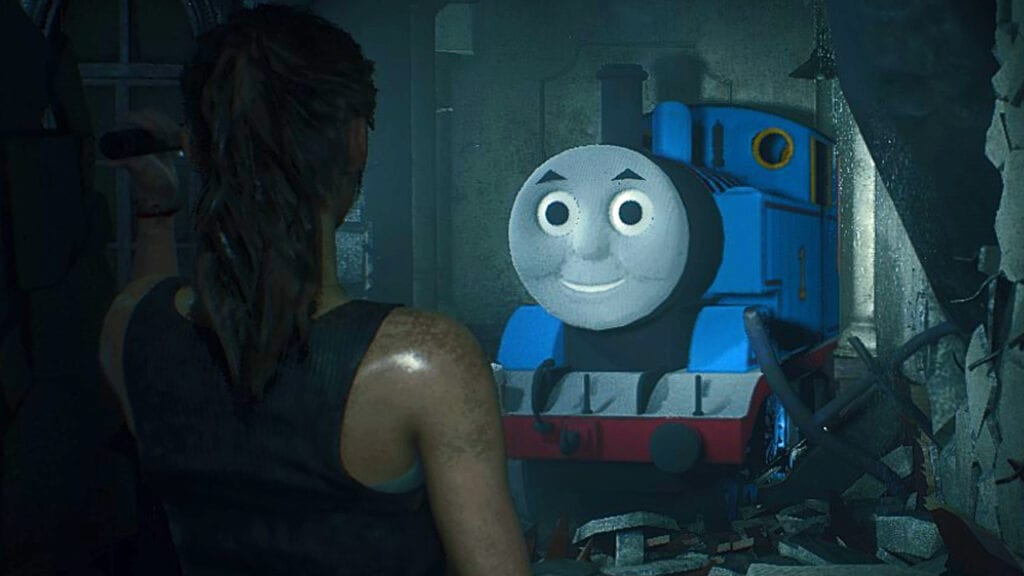Resident Evil 2 Naturally Mods Mr. X As Thomas the Tank Engine (VIDEO)