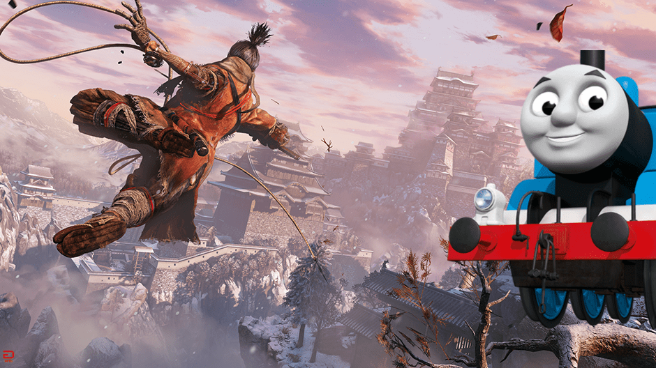 Thomas The Tank Engine Invades Sekiro: Shadows Die Twice With This Mod (VIDEO)