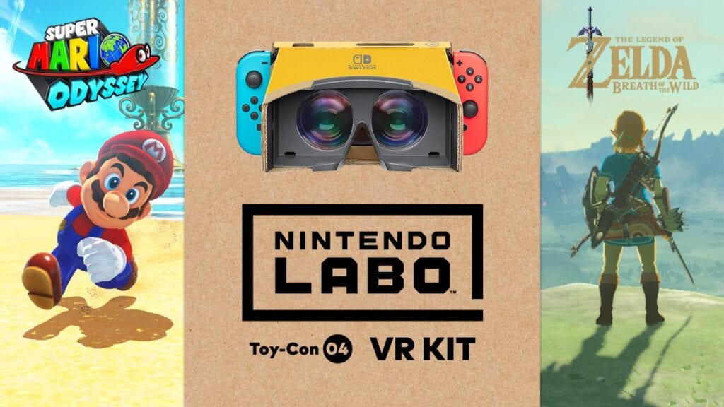 Legend of Zelda: Breath of the Wild, Super Mario Odyssey VR Coming Soon With Nintendo Labo (VIDEO)