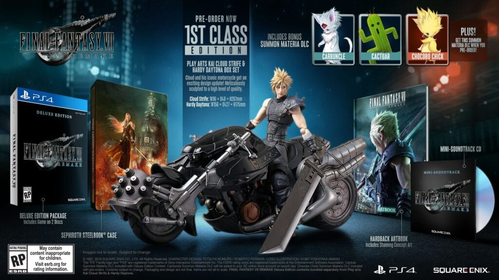 Final Fantasy VII Remake 1st Class Edition, Pre-Order Details Revealed