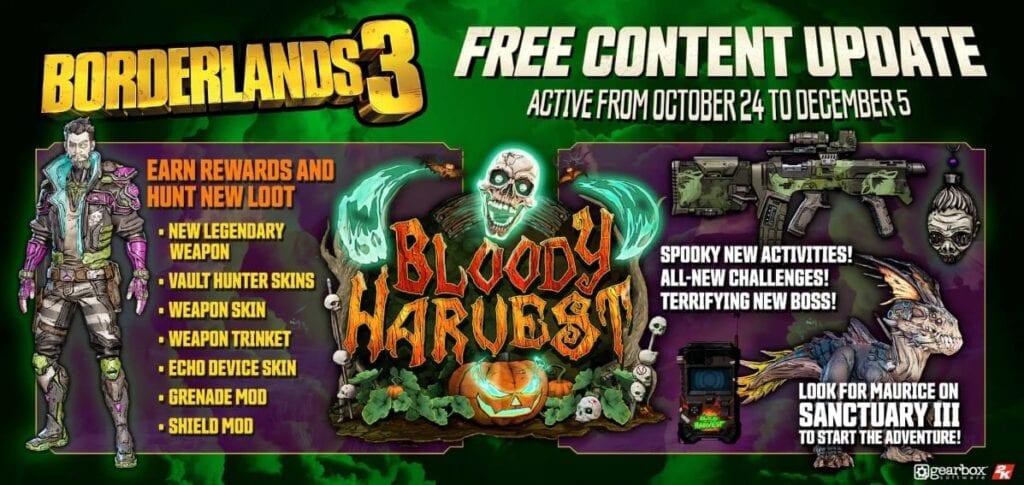 Borderlands 3 Bloody Harvest Details