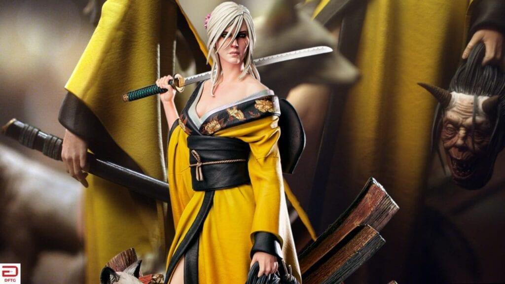the witcher ciri kitsune figure dftg