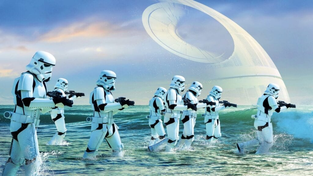 star wars battlefront 2 stormtroopers rogue one scarif