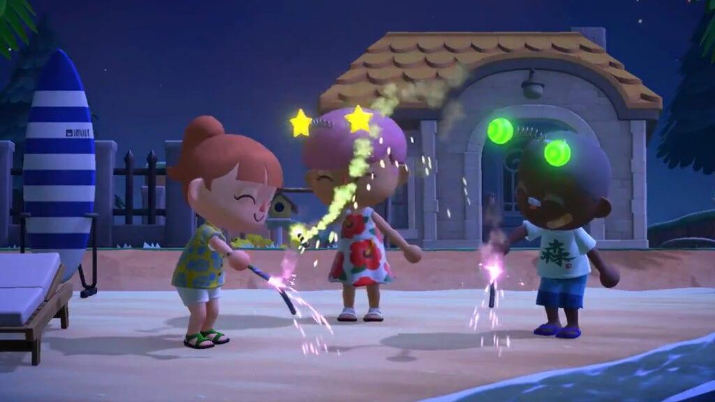 Animal Crossing New Horizons Summer Update Wave 2 Cloud Saves Fireworks